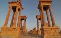 Palmyra's Tetraplyon at sunset - Syria