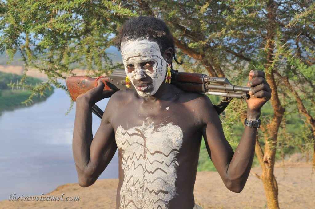 Karo warrior - Kolcho, Omo Valley, Ethiopia