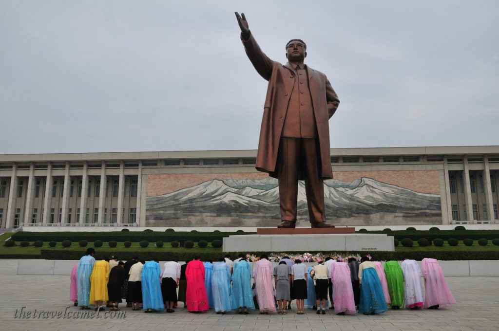 Great Leader statue on Mansu Hill - Pyongyang, North Korea
