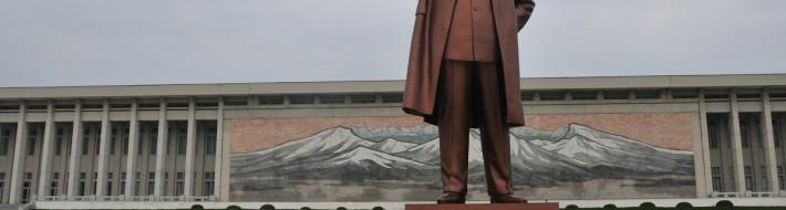 Great Leader statue on Mansu Hill - Pyongyang, North Korea