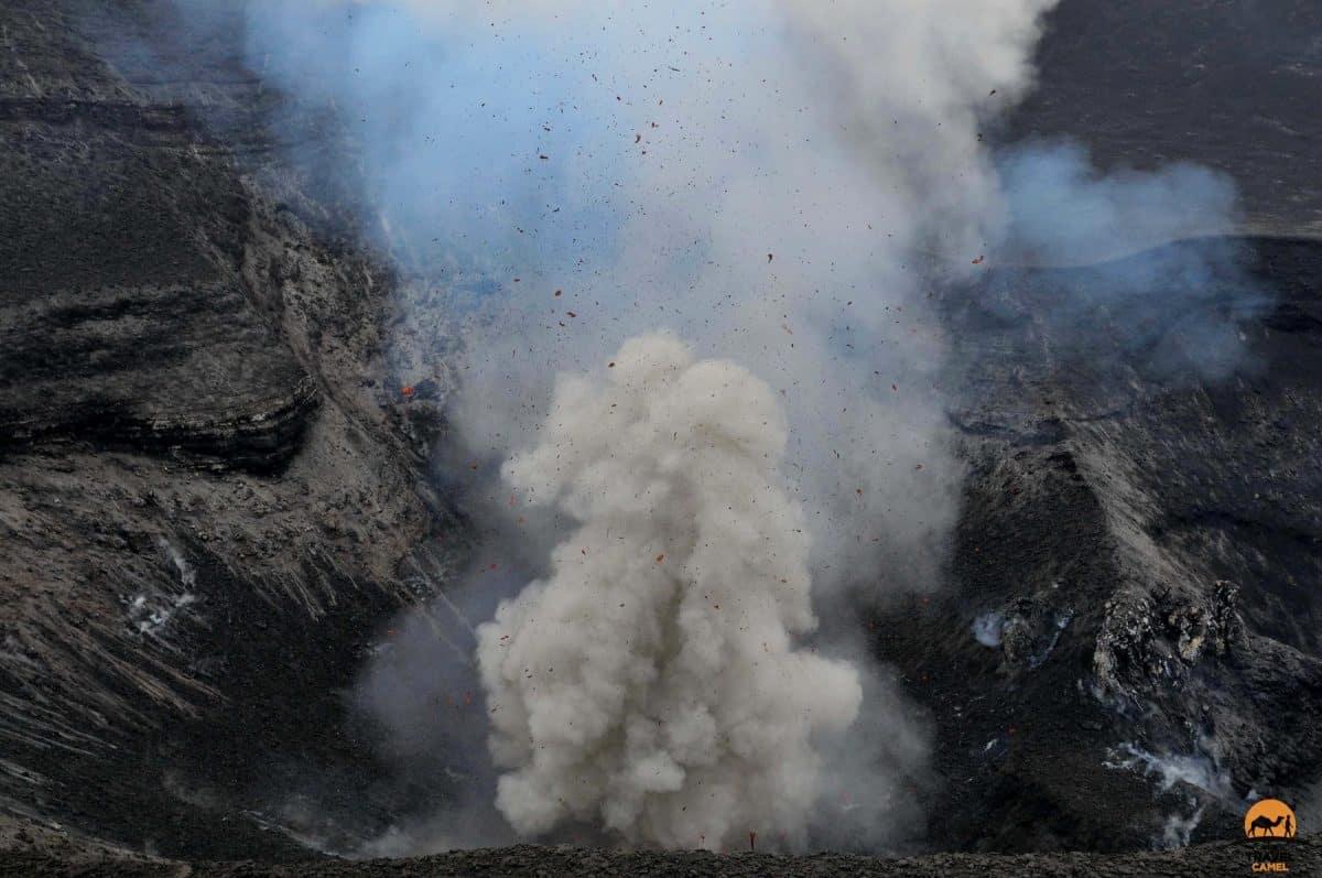 A spectacular eruption at Mt Yasur Volcano - Tanna Island, Vanuatu