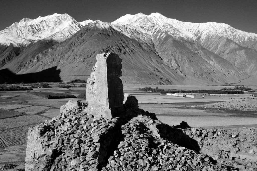 Afghanistan Landscape BW Display - 02