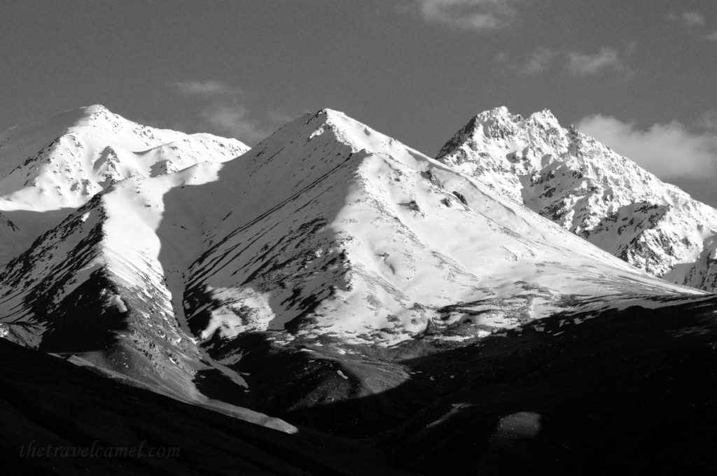 Afghanistan Mountains BW Display - 01