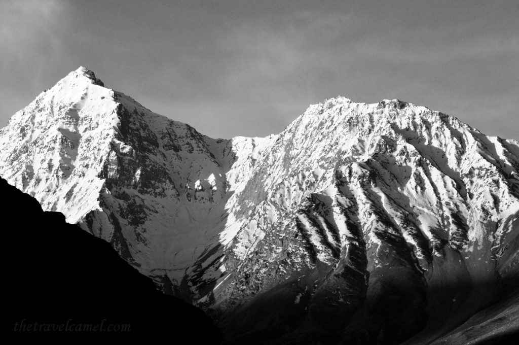 Afghanistan Mountains BW Display - 03