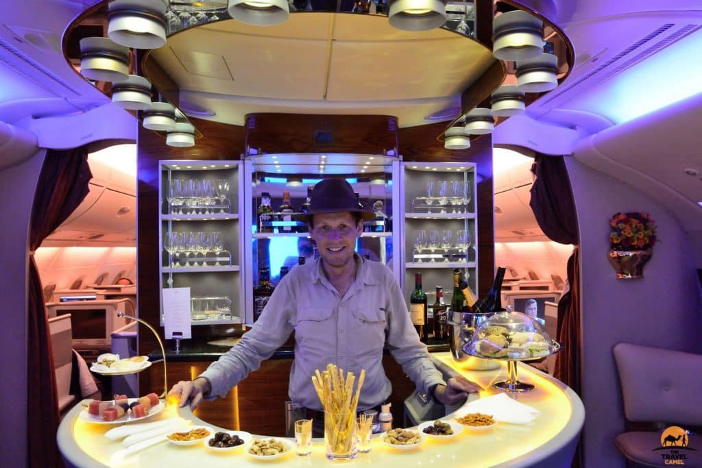 An Upgrade into Business Class on an Emirates Airbus A380