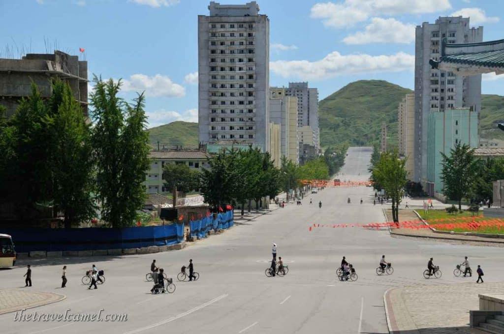 City scene - Kaesong, North Korea