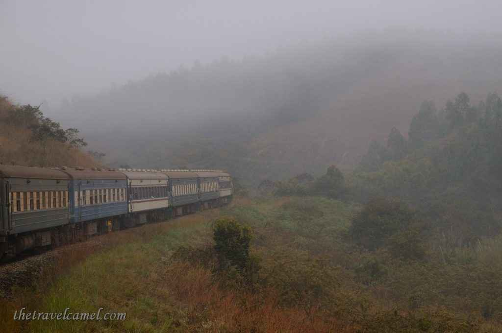 Tazara train journey on a foggy morning - Tanzania