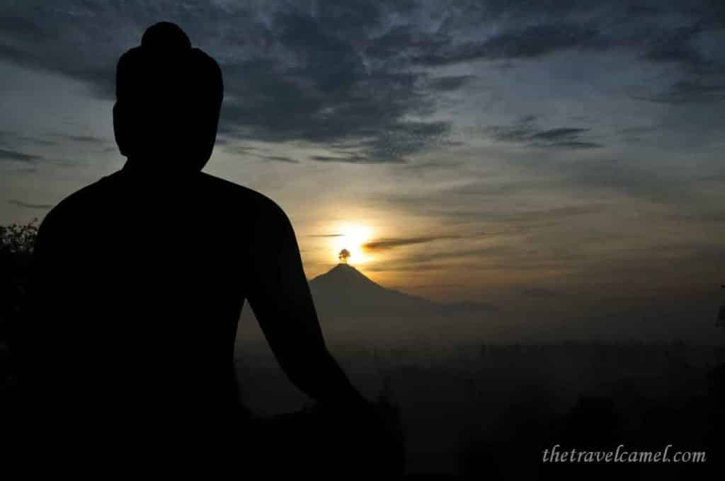 Sunrise over Mt Merapi - Borobudur, Indonesia