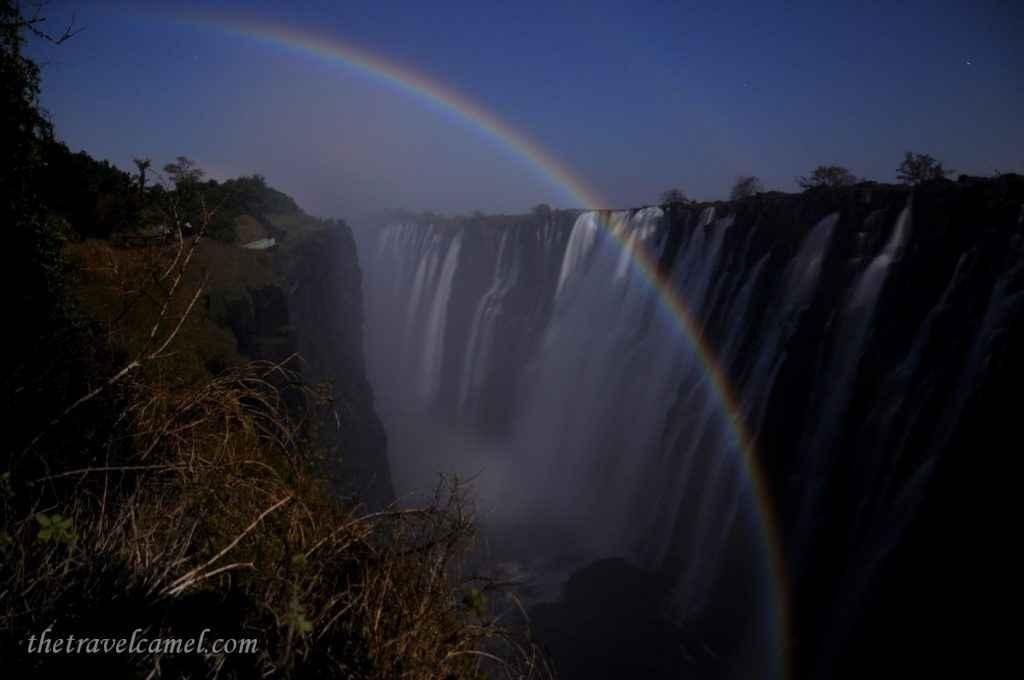 Lunar Rainbow - Victoria Falls, Zambia