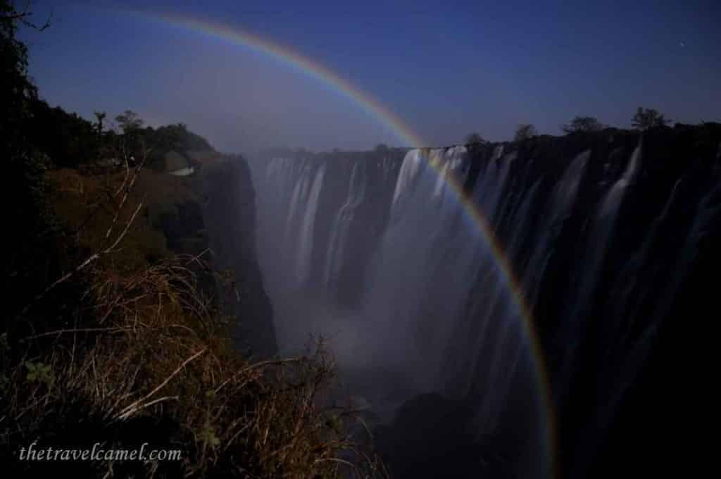 Lunar Rainbow – Victoria Falls, Zambia