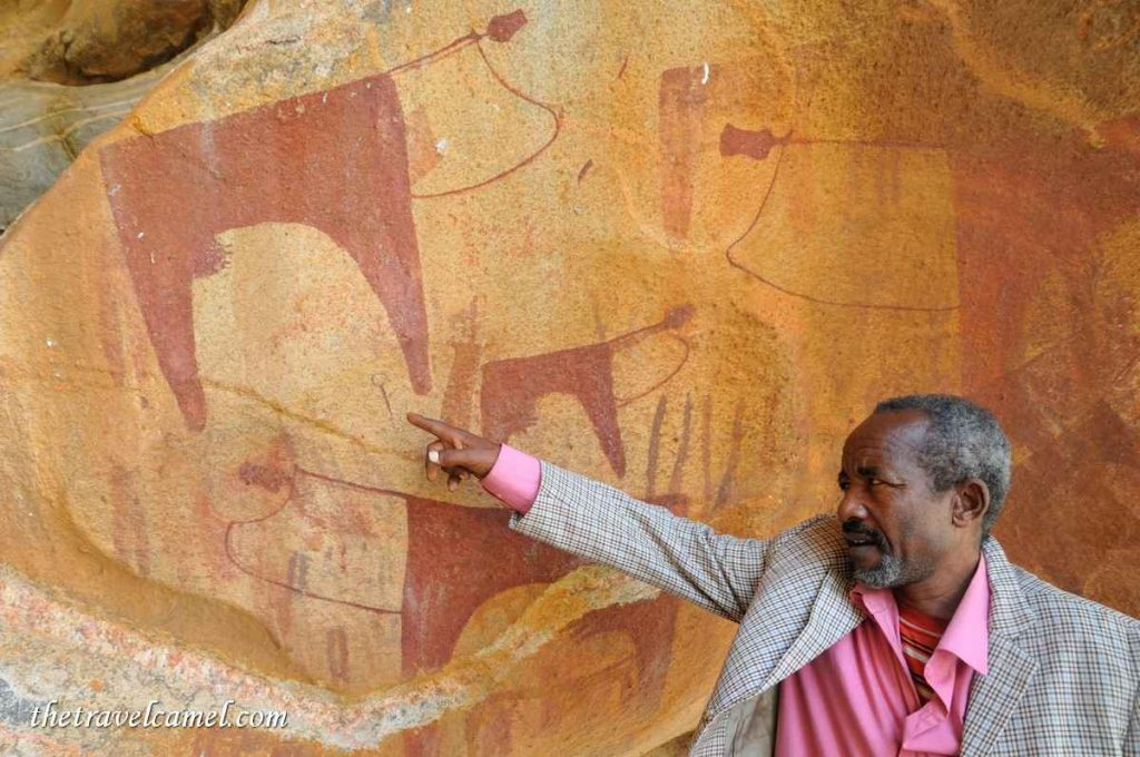 Estimated 7000 year old rock art - Las Geel, Somaliland