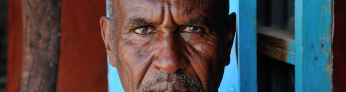 Muse Abdijama - guard of Las Geel, Somaliland