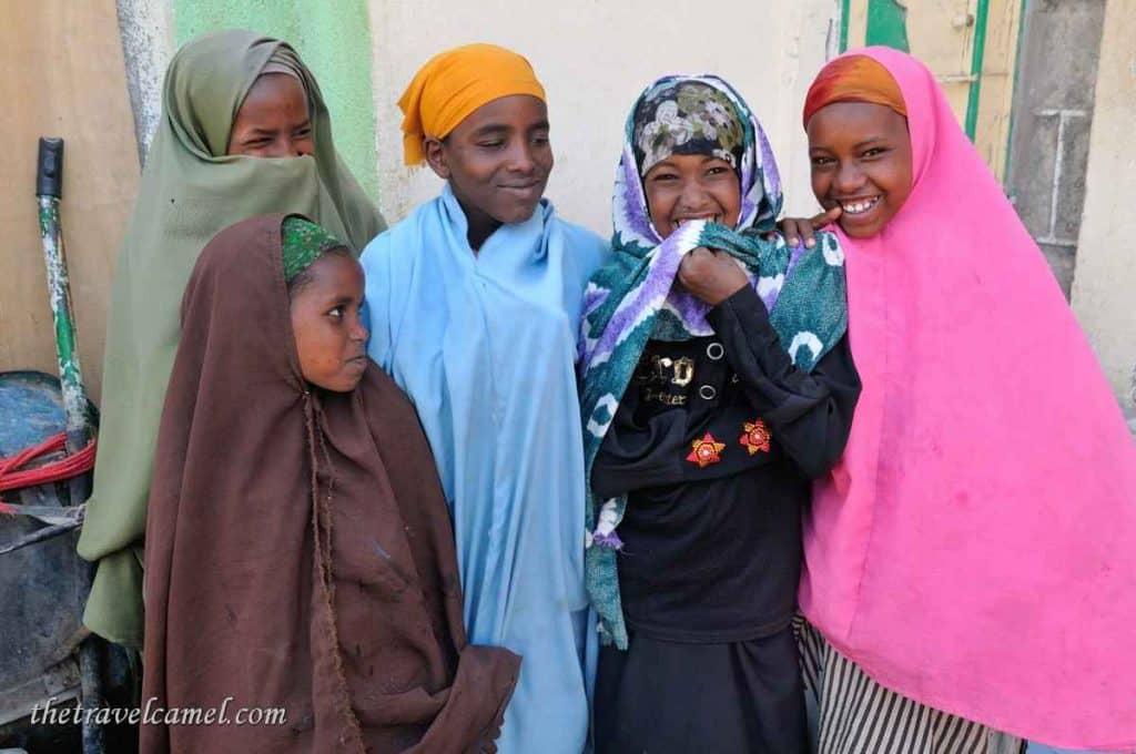 Happy Ethiopian girls - Hargeisa, Somaliland