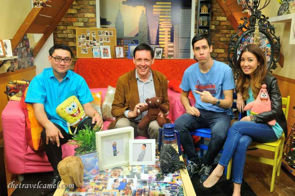 Appearing on 8TV in Malaysia