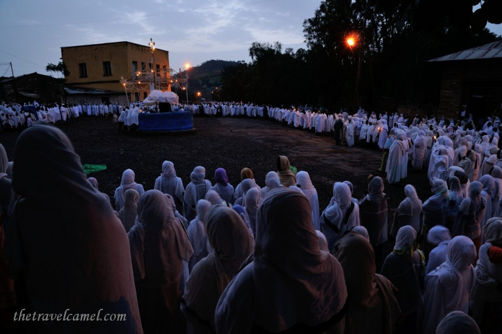 Pre-dawn St Mary's Day Ceremony – Axum, Ethiopia
