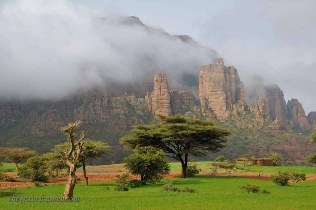 Morning clouds - near Mergab, Tigray Region, Ethiopia
