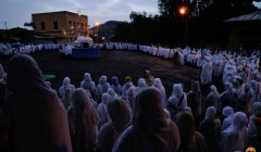 Dawn at the St Mary's Day Ceremony - Axum, Ethiopia