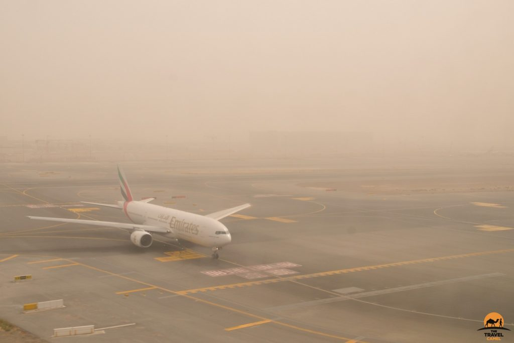 Dust and Sand Descends on Dubai Airport - United Arab Emirates