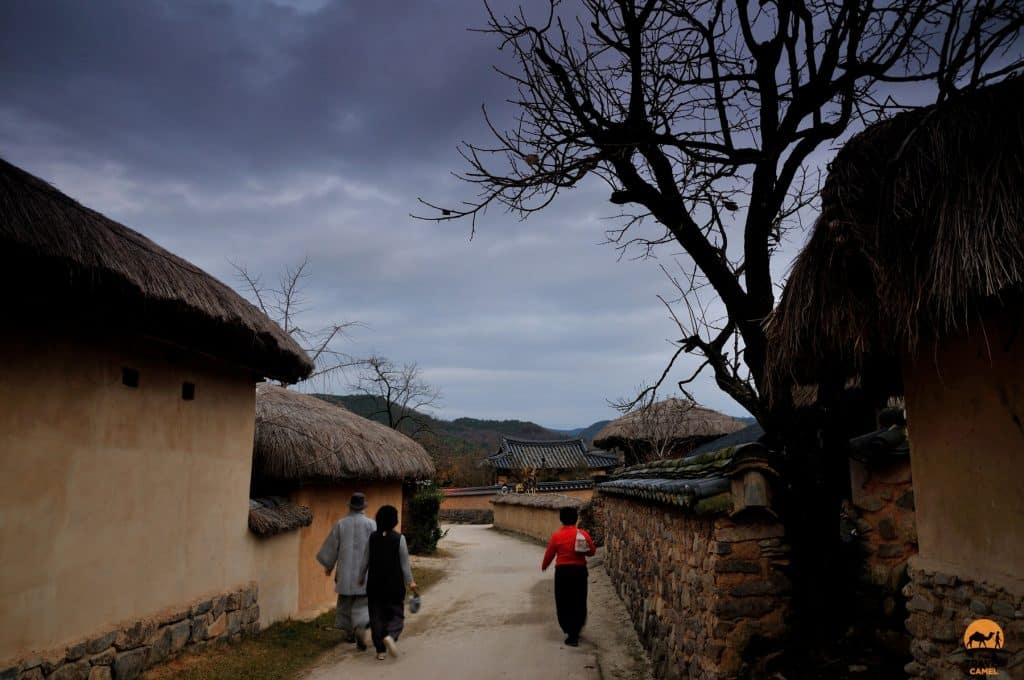 Hahoe Folk Village at Dusk - South Korea