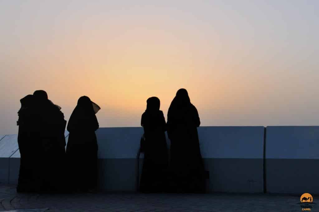 Kuwaiti Women Watch a Sunset - Kuwait City, Kuwait
