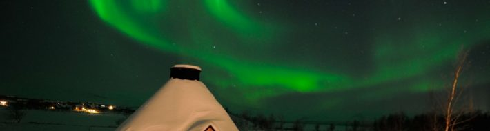 Northern Lights at Kilpisjarvi in Finnish Lapland - Finland