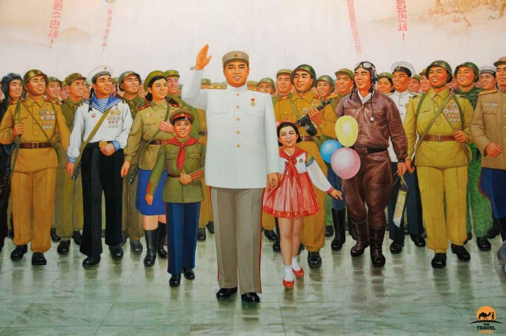 Painting of the Great Leader - Pyongyang, North Korea