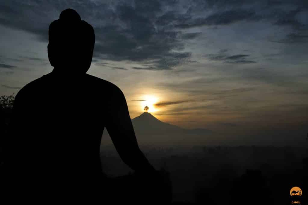 Sunrise over Mt Merapi at Borobudur - Indonesia