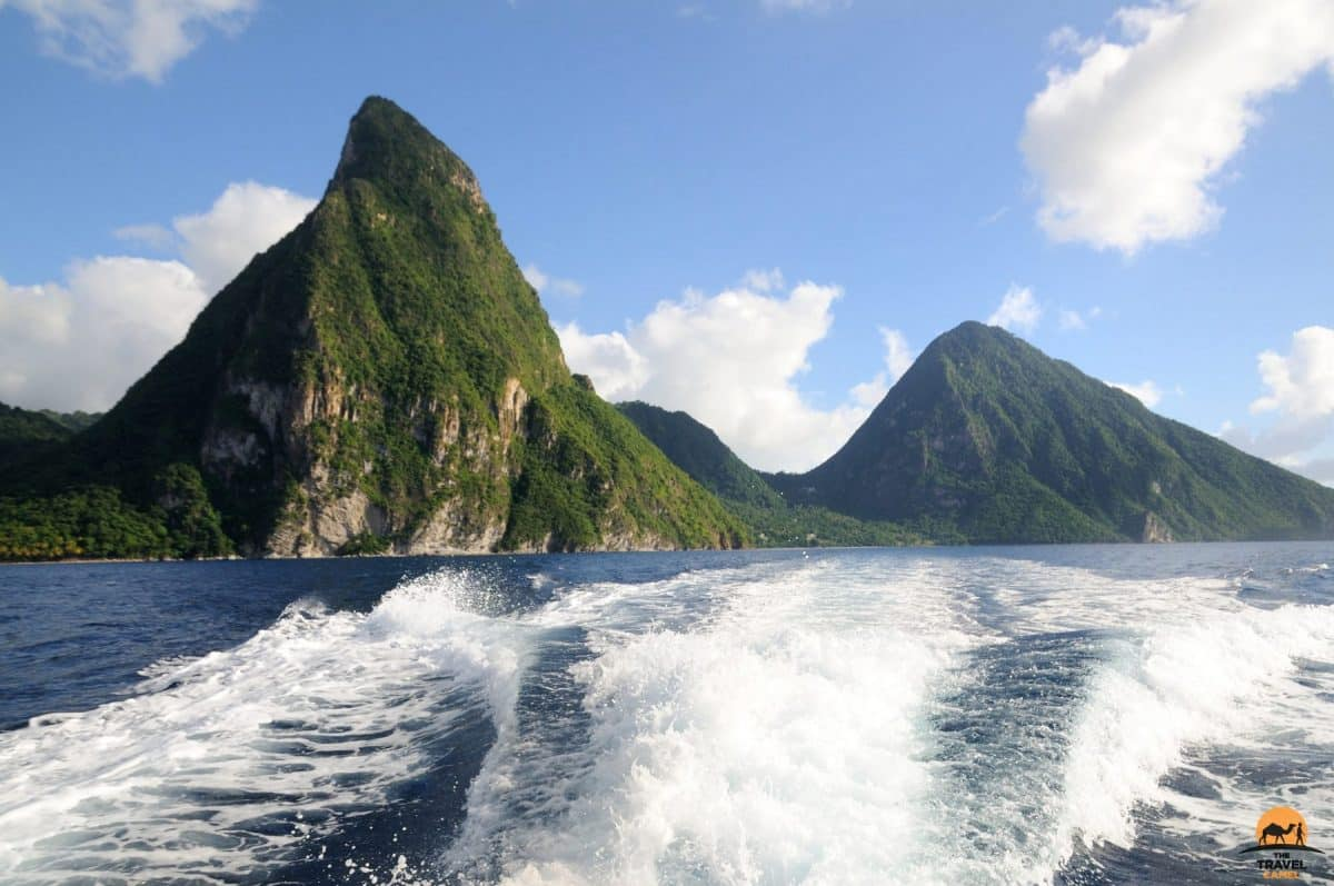 The Pitons Tower over St Lucia