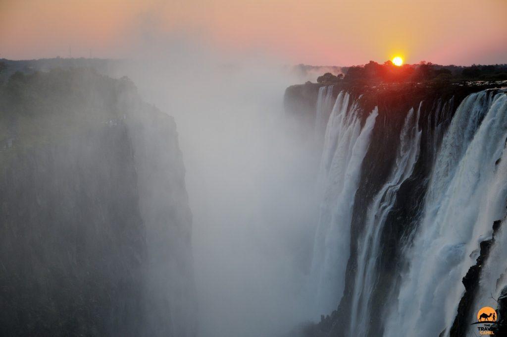 Victoria Falls at Sunset Zambia