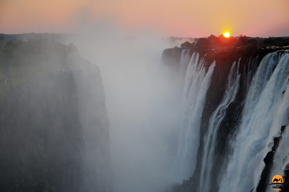 Victoria Falls (Mosi-oa-Tunya) at Sunset - Zambia
