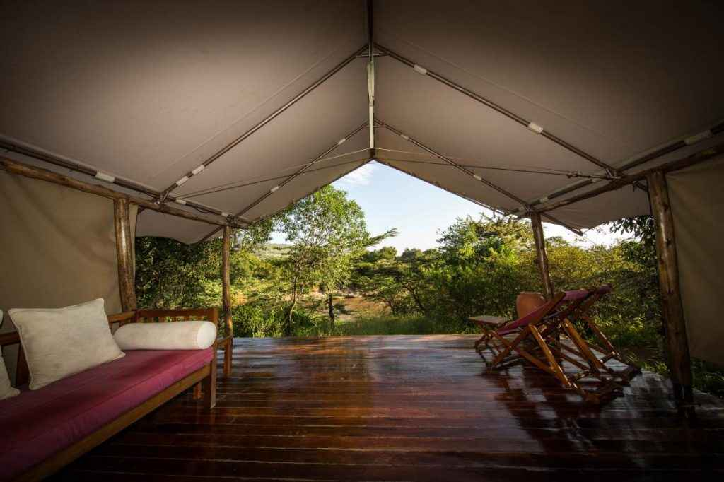 View from a Karen Blixen Camp luxury tent (photo courtesy of Karen Blixen Camp)