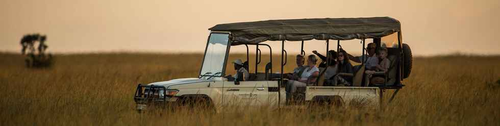 Karen Blixen Camp vehicle on game drive (photo courtesy of Karen Blixen Camp)